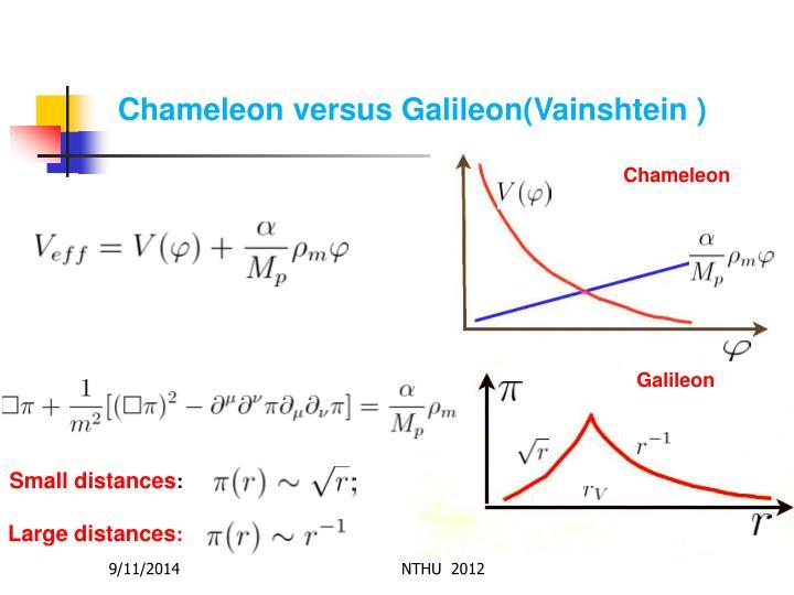 Chameleon versus Galileon(Vainshtein )