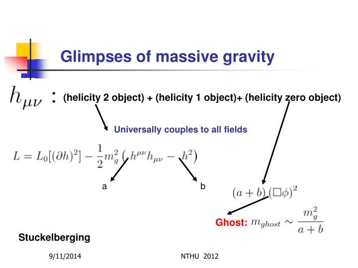 Glimpses of massive gravity