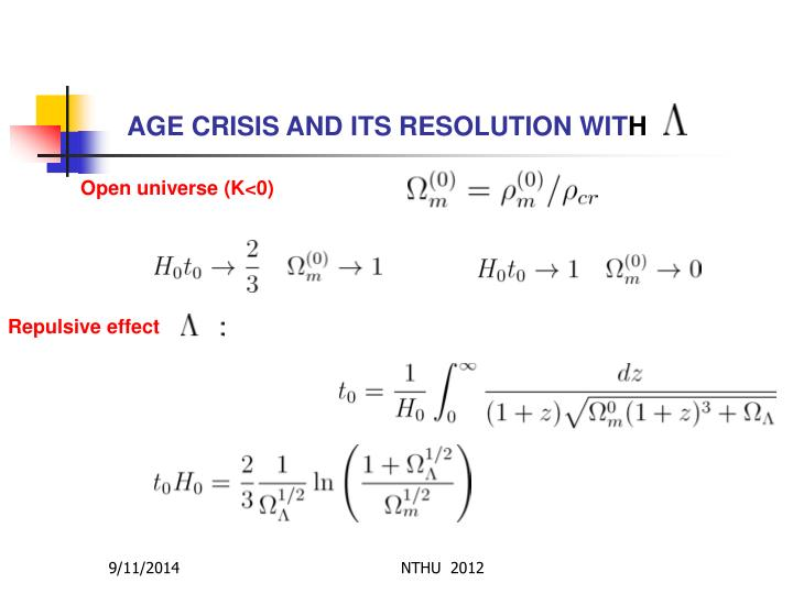 AGE CRISIS AND ITS RESOLUTION WIT