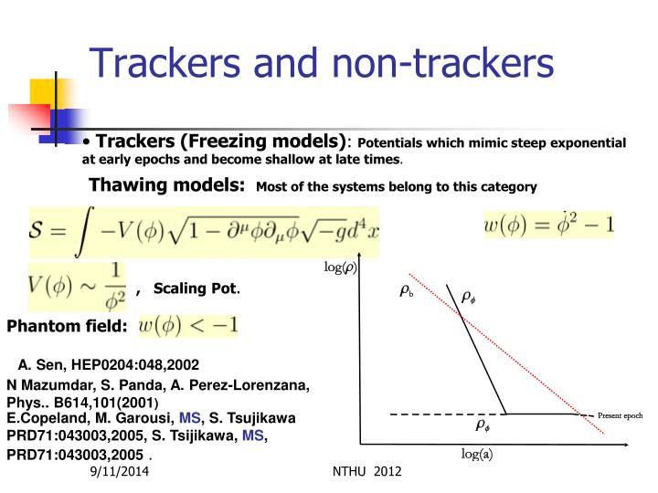Trackers and non-trackers
