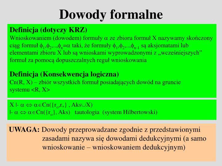 Dowody formalne