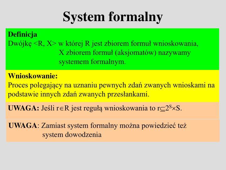 System formalny