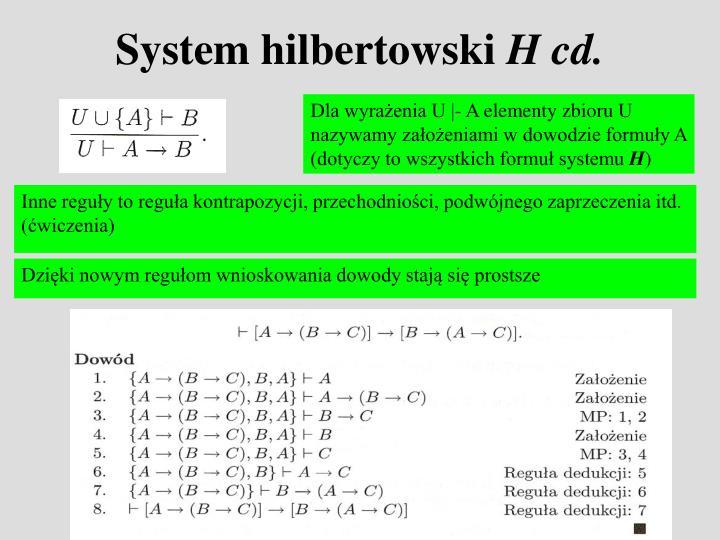 System hilbertowski