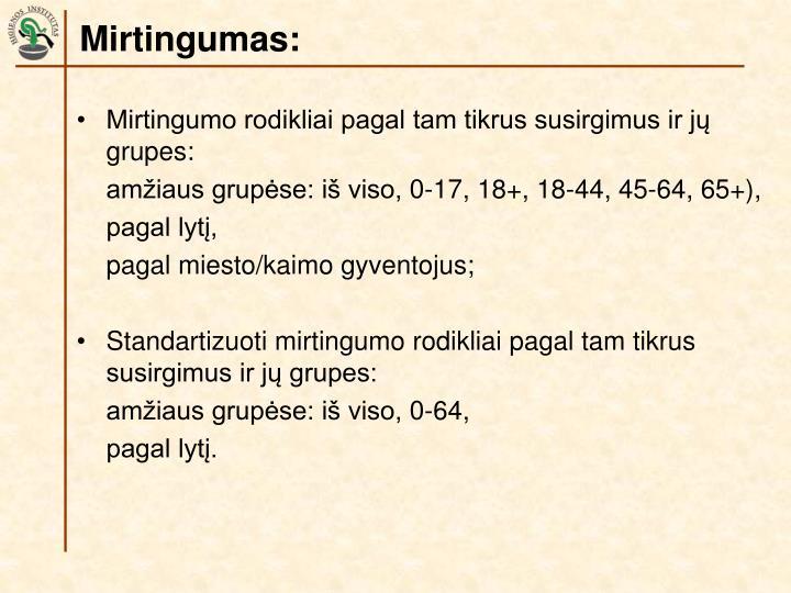 Mirtingumas: