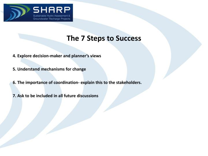 The 7 Steps to Success