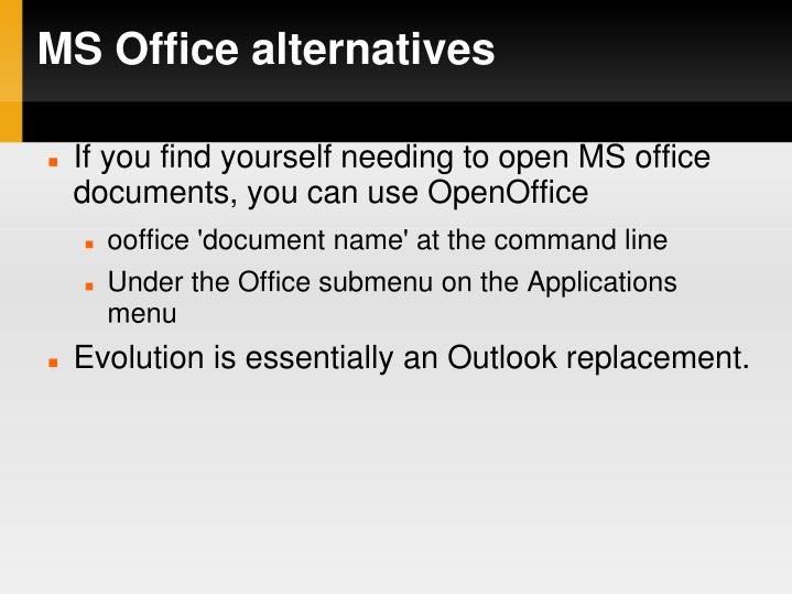 MS Office alternatives
