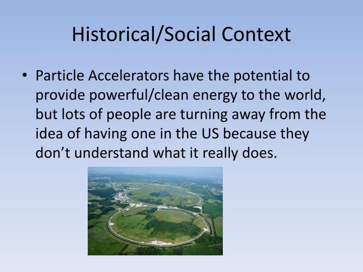 Historical/Social Context