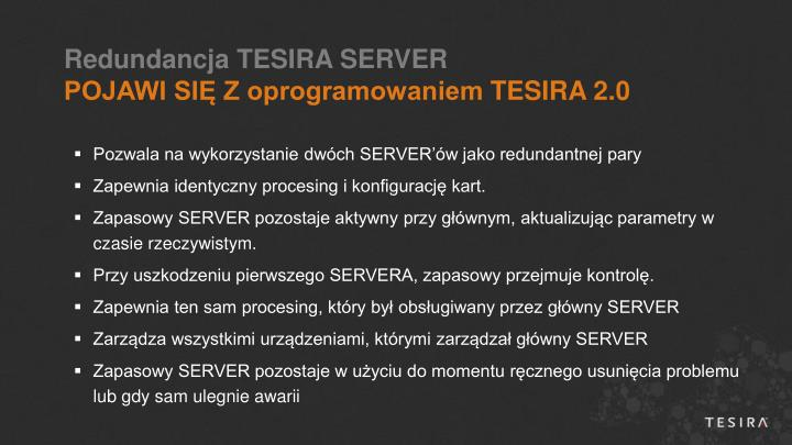 Redundancja TESIRA SERVER