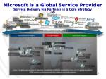 microsoft is a global service provider service delivery via partners is a core strategy
