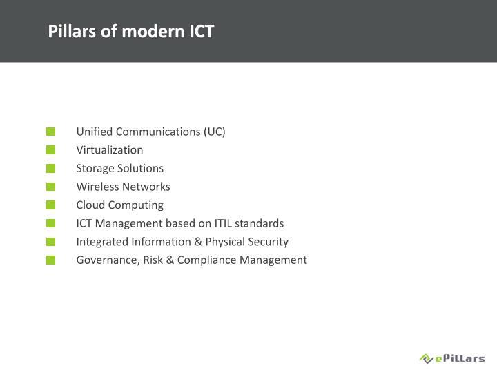 Pillars of modern ICT