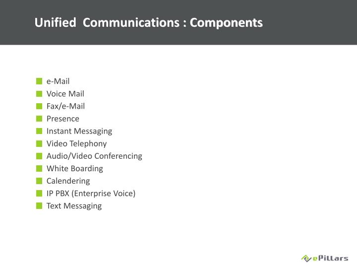 Unified  Communications : Components