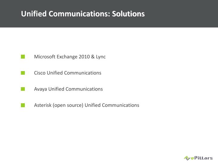 Unified Communications: Solutions