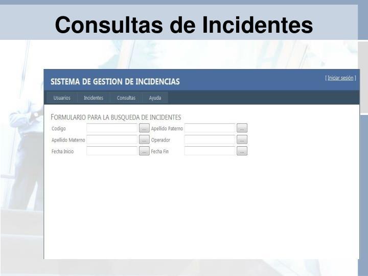 Consultas de Incidentes