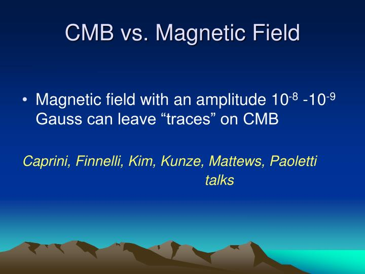 CMB vs. Magnetic Field