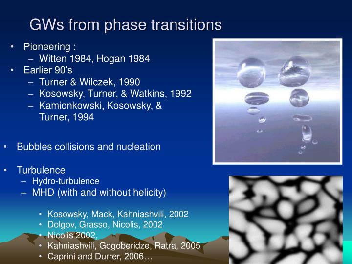 GWs from phase transitions