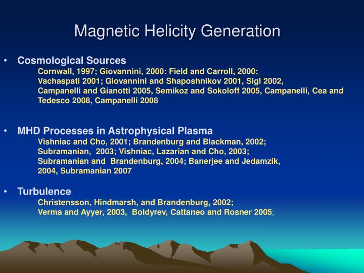 Magnetic Helicity Generation