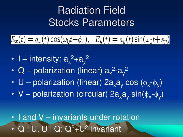 Radiation Field