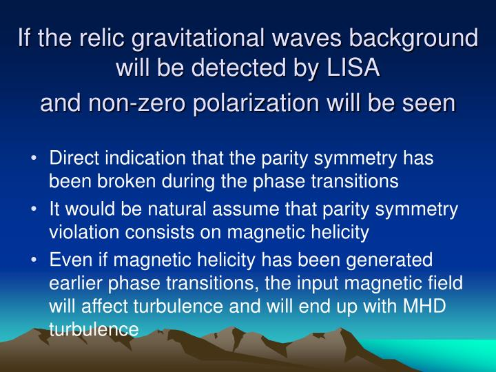 If the relic gravitational waves background will be detected by LISA