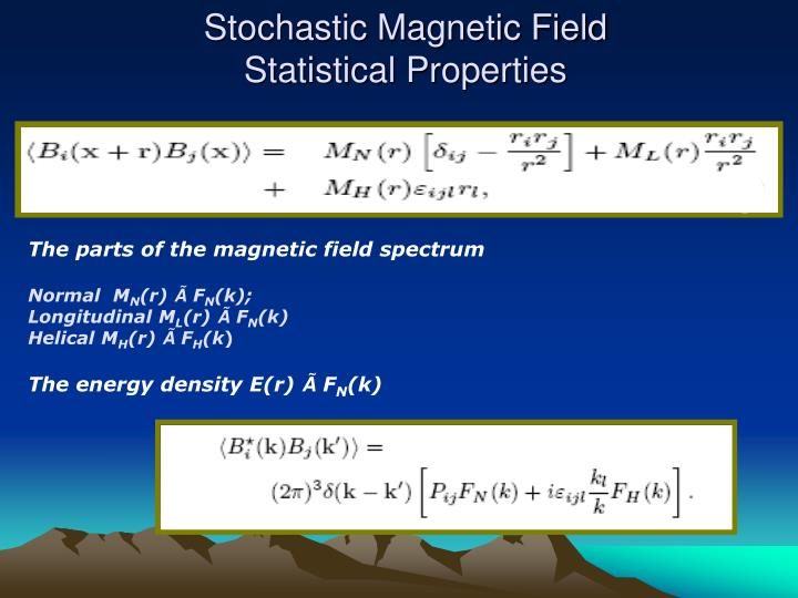 Stochastic Magnetic Field