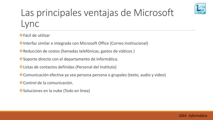 Las principales ventajas de Microsoft Lync