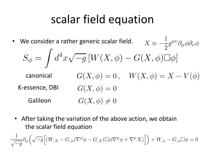 scalar field equation