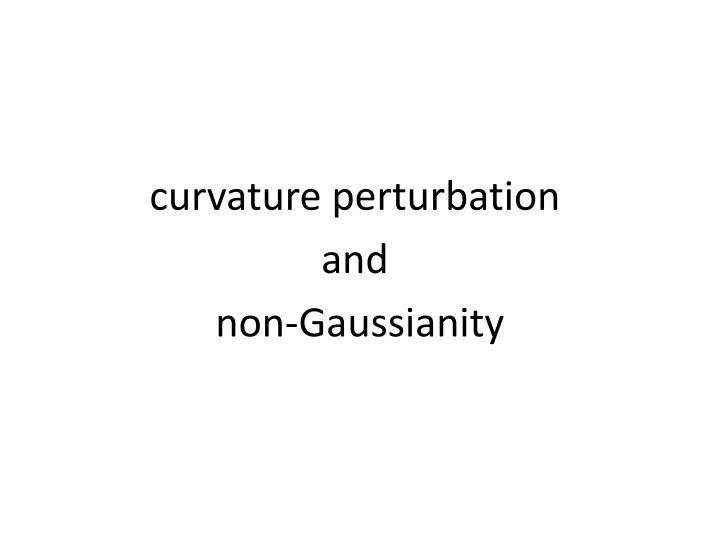 curvature perturbation