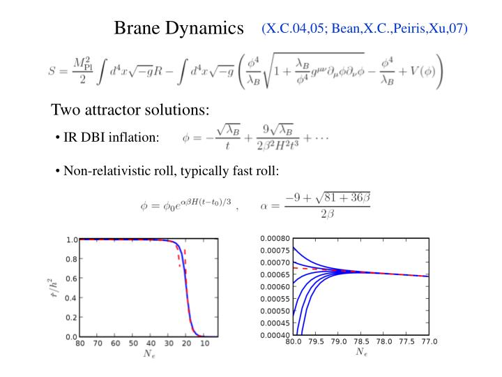 Two attractor solutions: