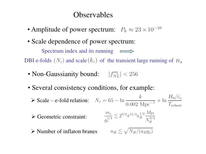Scale dependence of power spectrum: