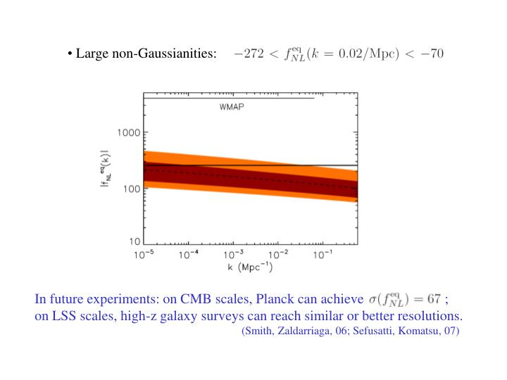 In future experiments: on CMB scales, Planck can achieve                       ;