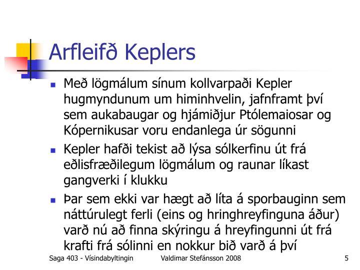 Arfleifð Keplers