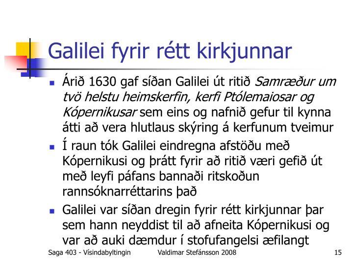 Galilei fyrir rétt kirkjunnar