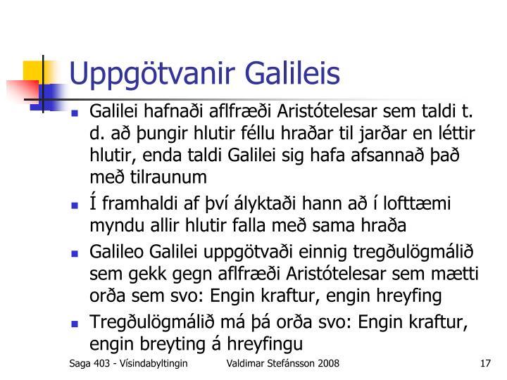 Uppgötvanir Galileis