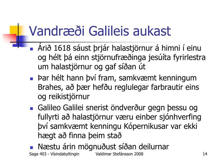 Vandræði Galileis aukast