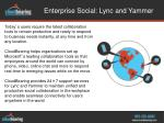 enterprise social lync and yammer