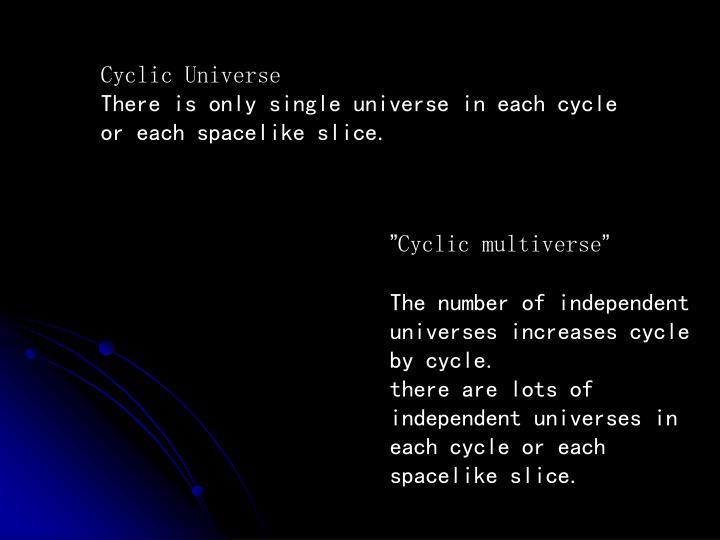 Cyclic Universe