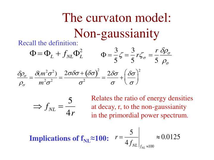 The curvaton model: