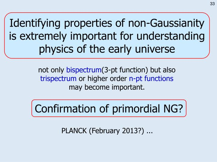 Identifying properties of non-Gaussianity