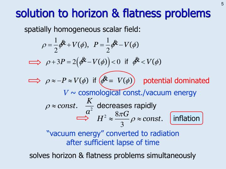 solution to horizon & flatness problems
