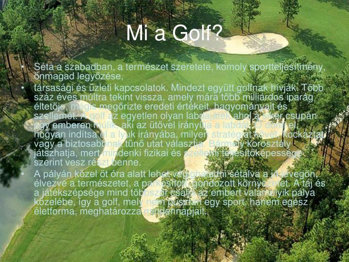 Mi a Golf?