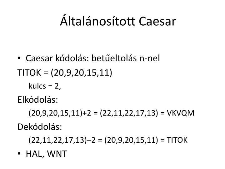 Általánosított Caesar