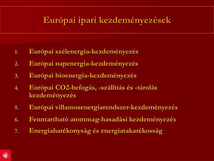 Európai ipari kezdeményezések