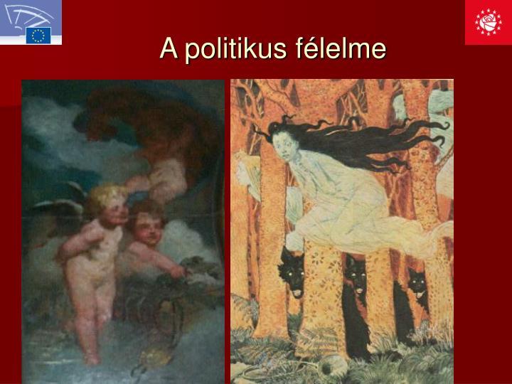 A politikus félelme