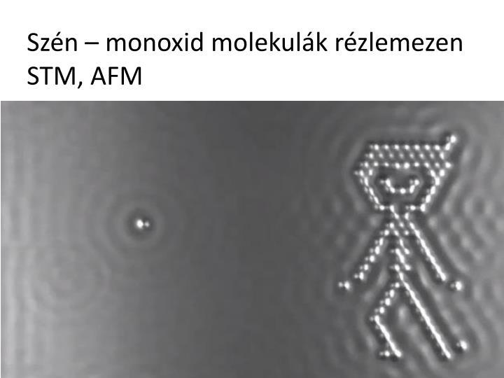 Szén – monoxid molekulák rézlemezen