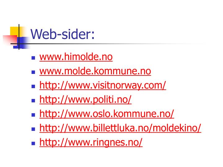 Web-sider: