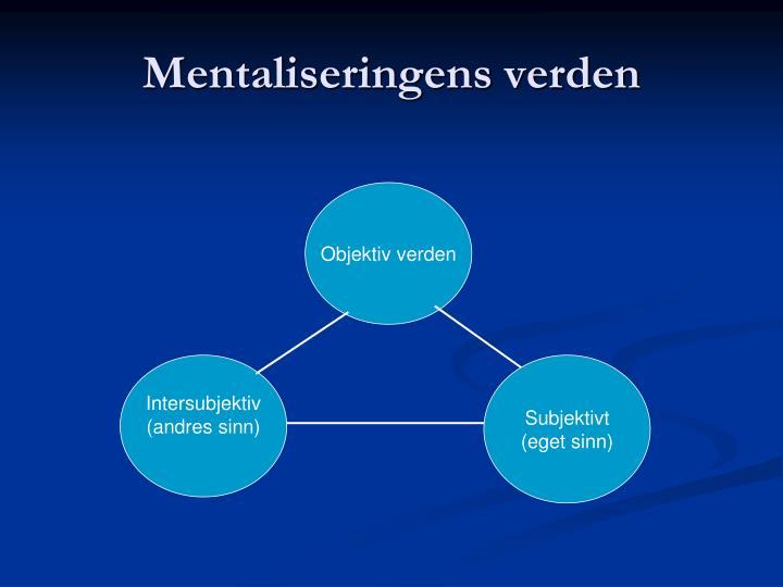 Mentaliseringens verden