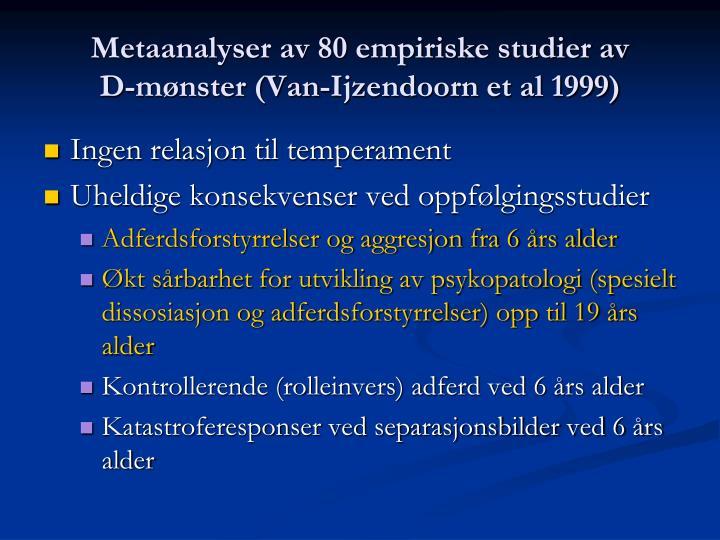 Metaanalyser av 80 empiriske studier av