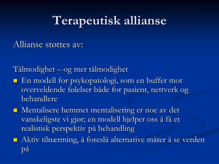 Terapeutisk allianse
