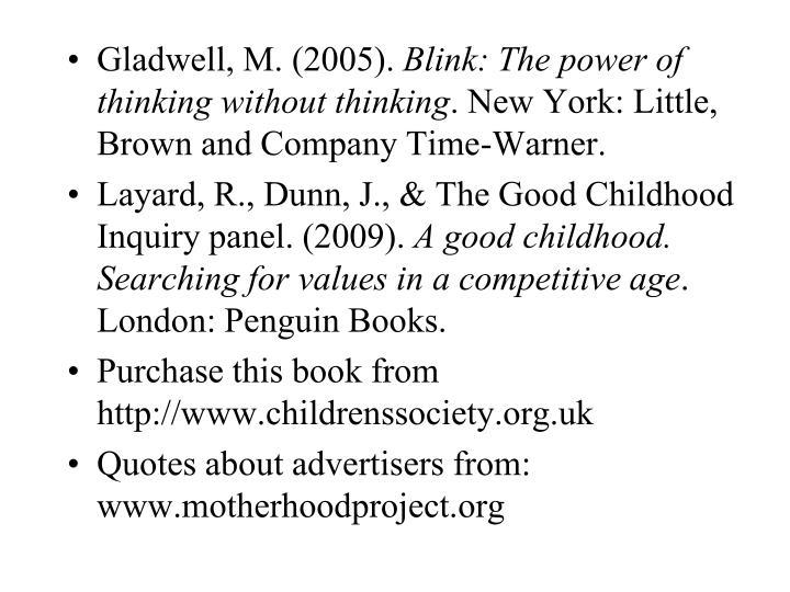 Gladwell, M. (2005).