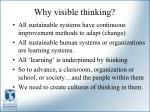why visible thinking