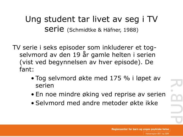 Ung student tar livet av seg i TV serie